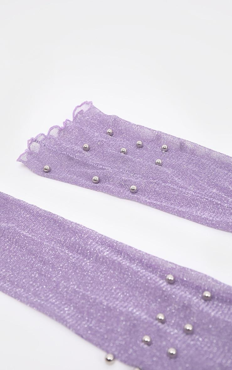 Lilac Pearl Socks 4