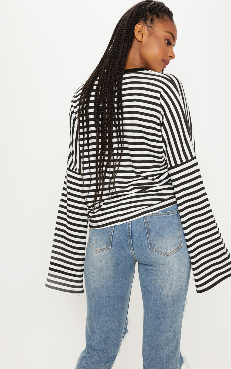 Mono Oversized Stripe Long Sleeve Top 2