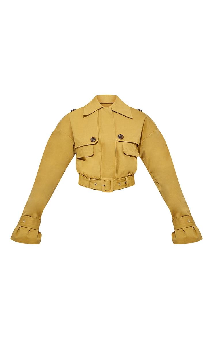 Veste courte camel style utilitaire à ceinture 4
