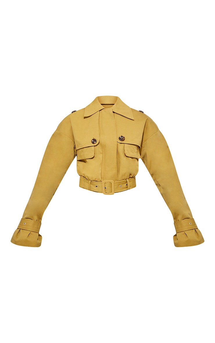 Camel Utility Detail Crop Jacket 4