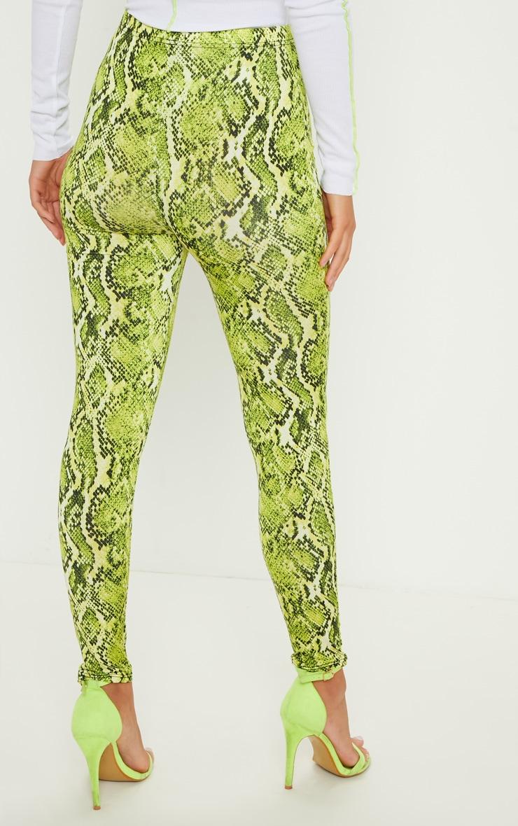 Lime Neon Snake Print Soft Touch Legging 4