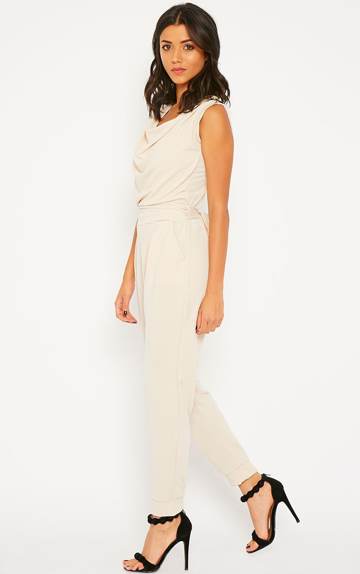 Cheris Cream Cowl Neck Jumpsuit 3