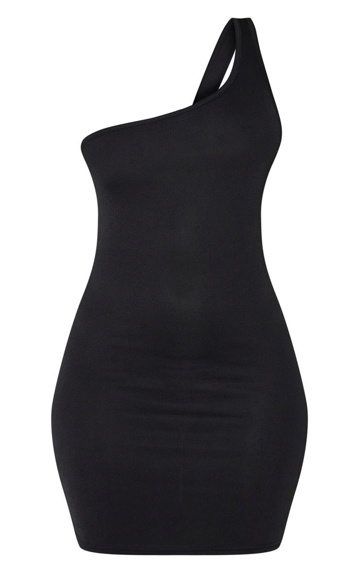 Black One Shoulder Bodycon Dress 3