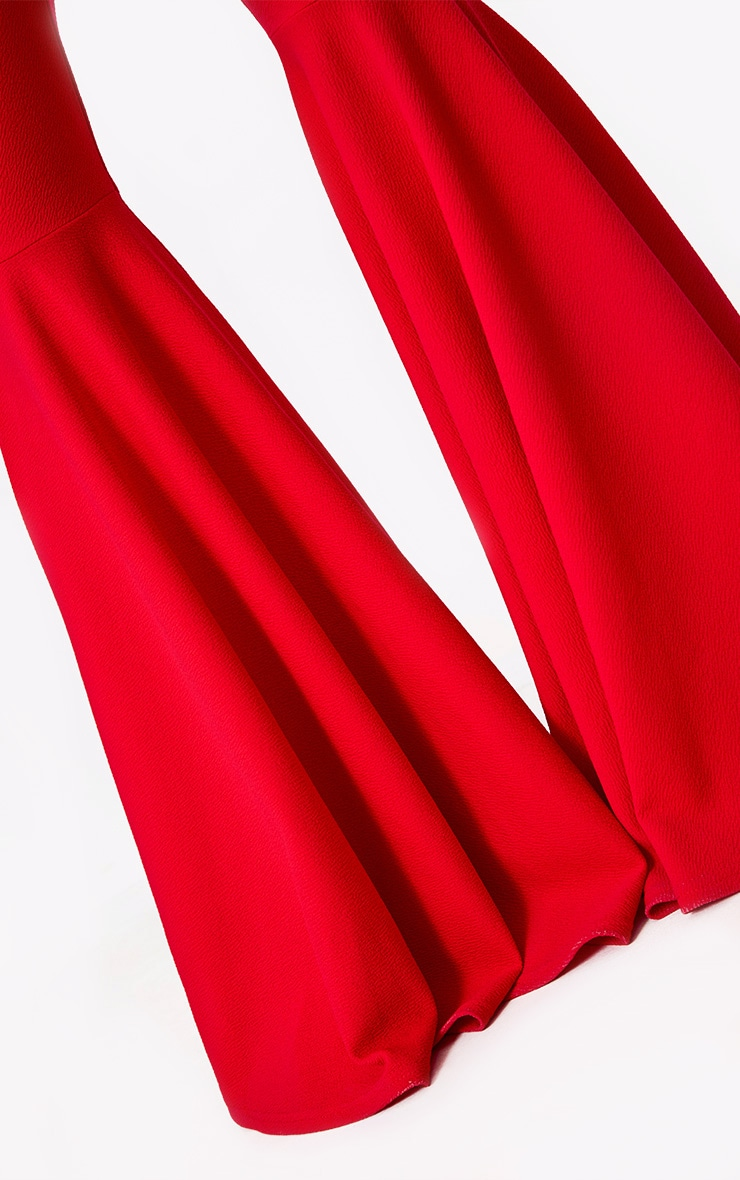 Red Extreme Flared Trousers 5