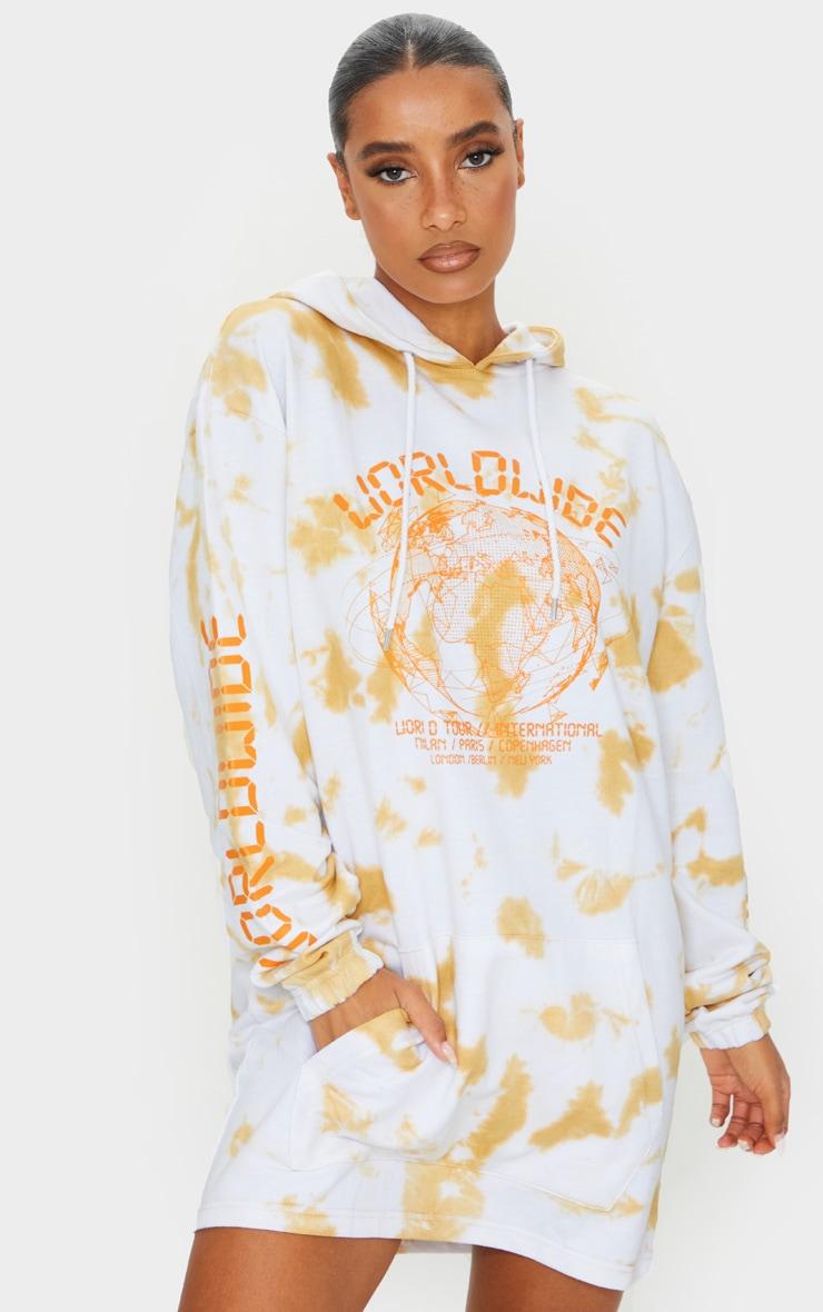 Stone Worldwide Slogan Oversized Tie Dye Hoodie Sweater Dress 3