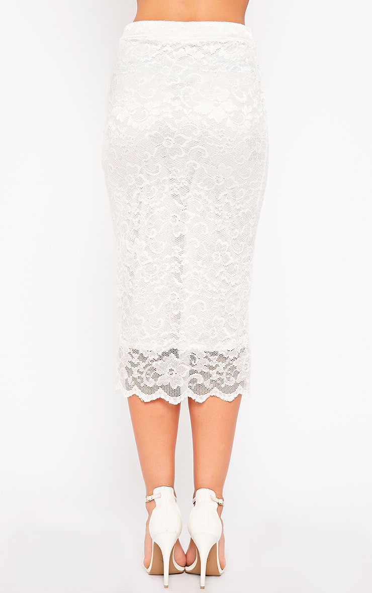 Diona Cream Lace Skirt 4