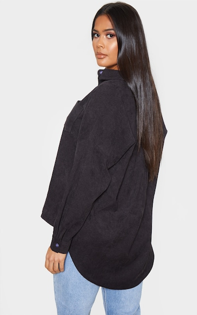 Black Cord Oversized Shirt