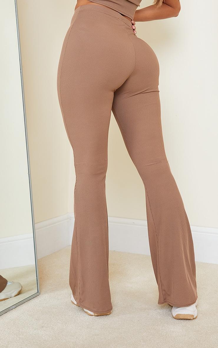 Shape Mocha Rib Detail Flared Trouser 3