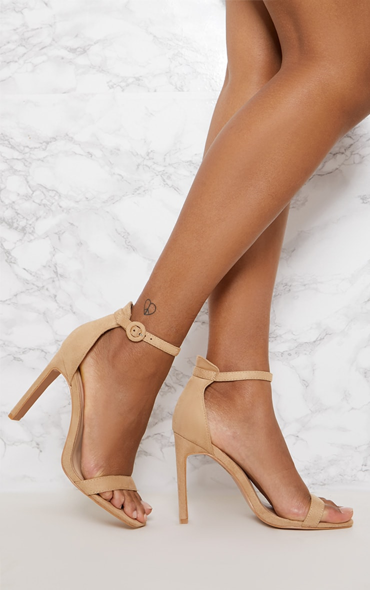 Nude Faux Suede Flat Barely There Heel