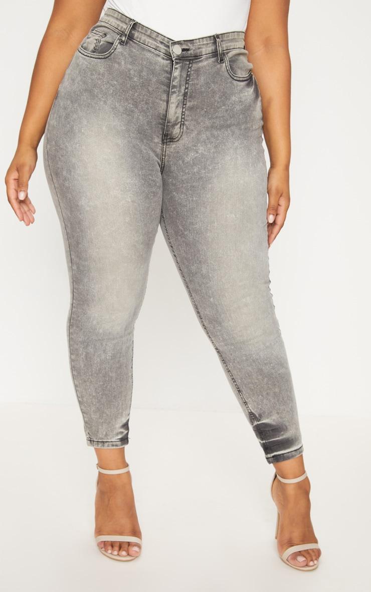 Plus Grey Skinny Jeans 2