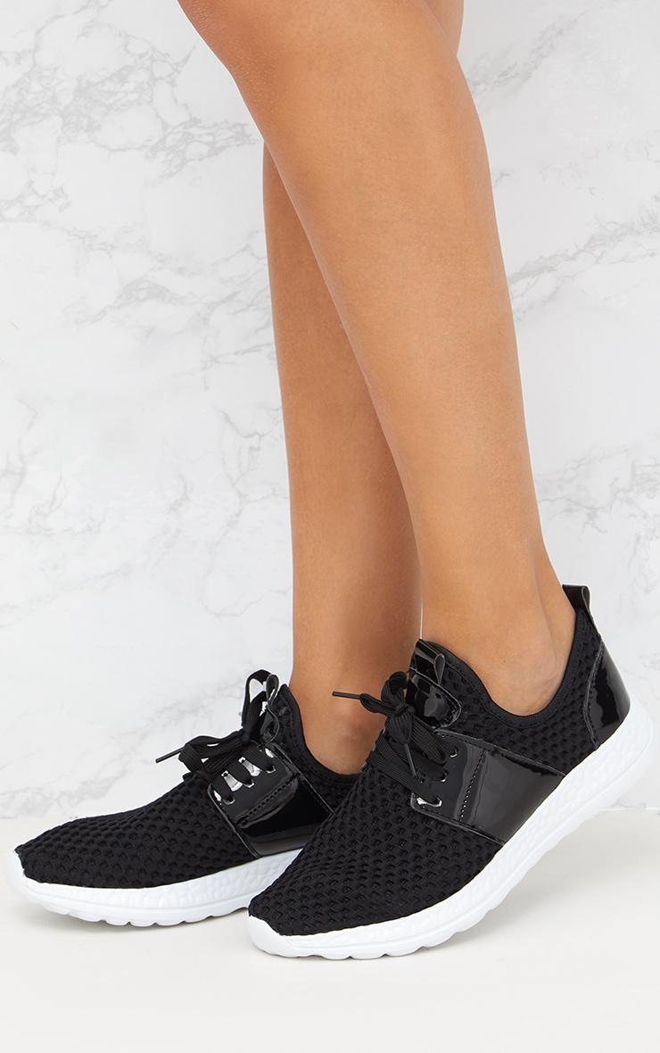Black Fishnet Sneakers 1