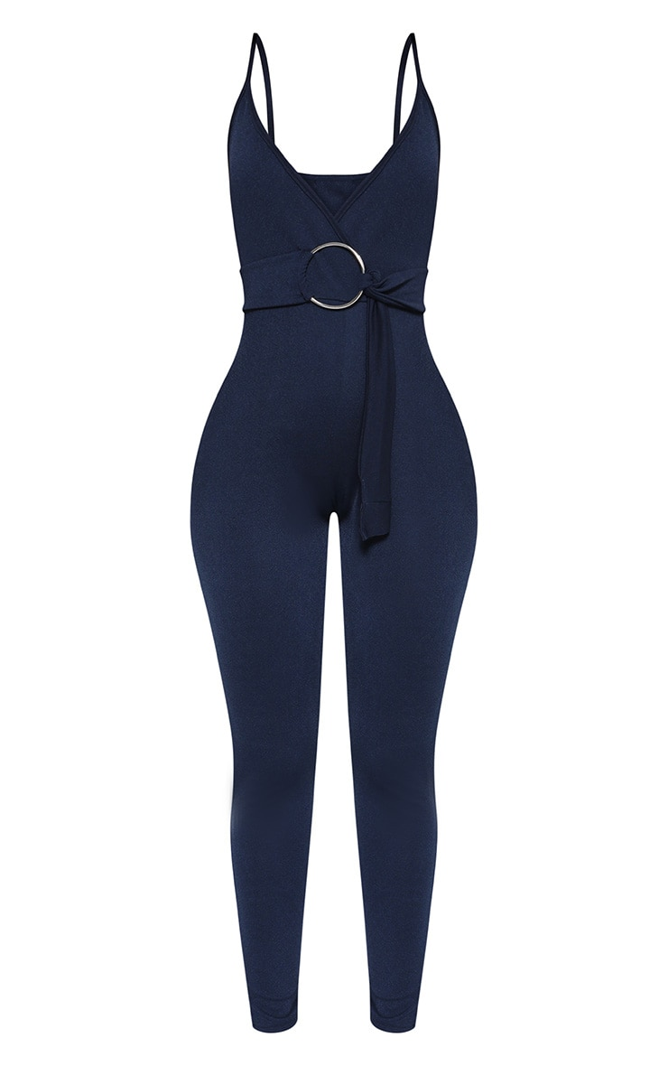 Shape Navy Wrap Cami O-Ring Jumpsuit 3