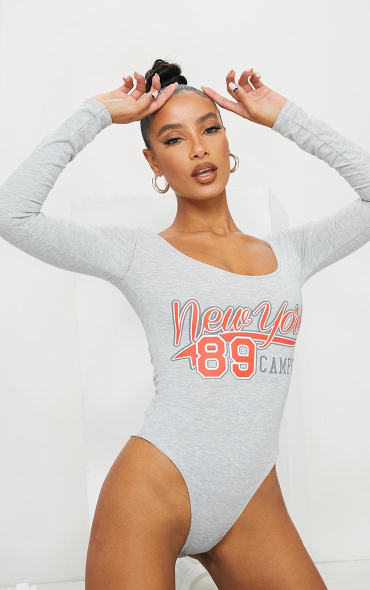 Grey New York 89 Printed Bodysuit 2