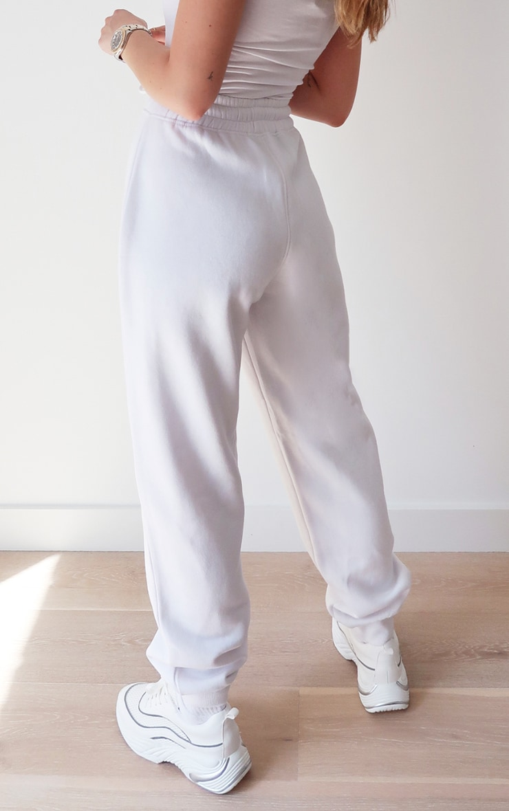 PRETTYLITTLETHING White High Waisted Joggers 3