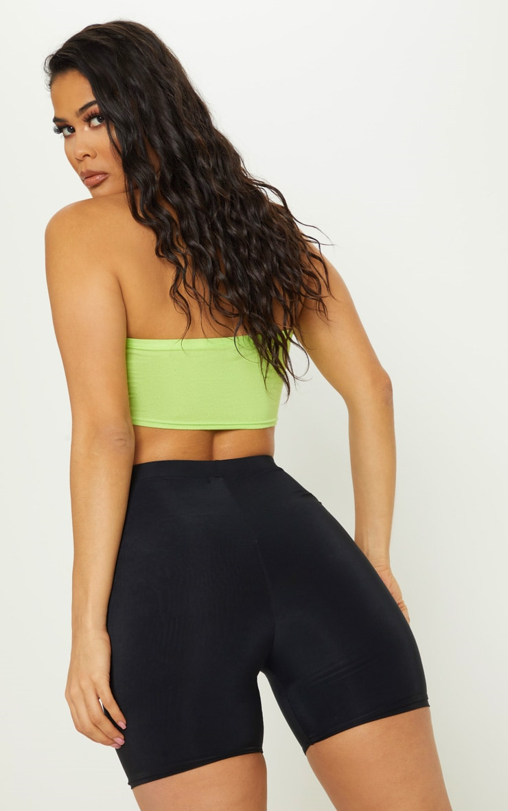 Basic Neon Lime Jersey Bandeau Top 2