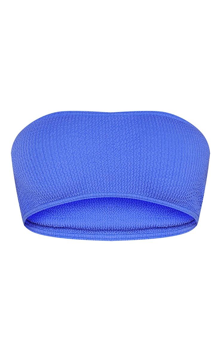 Blue Crinkle Bandeau Bikini Top 7