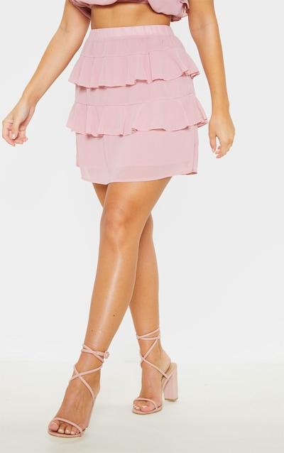 Dusty Rose Ruffle Mini Skirt