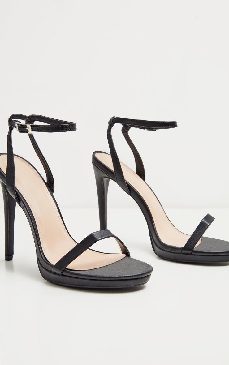Black Platform Single Strap Sandal 3