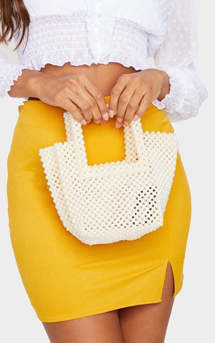 White Pearl Bucket Mini Grab Bag 2