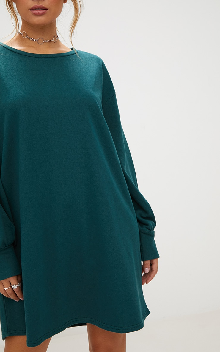 Forest Green Oversized Sweater Dress 5