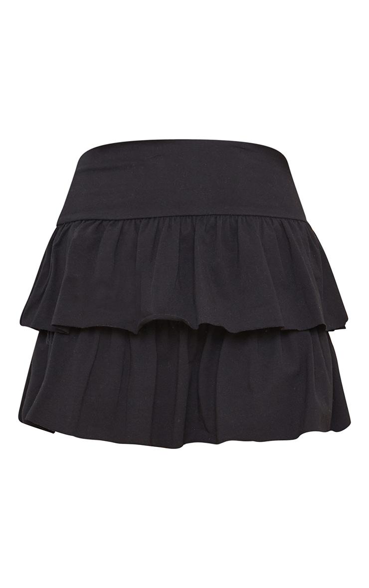 Black Tiered Jersey Skater Skirt 6