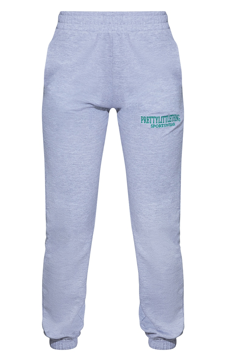 Grey Sports Embroidered Joggers 5