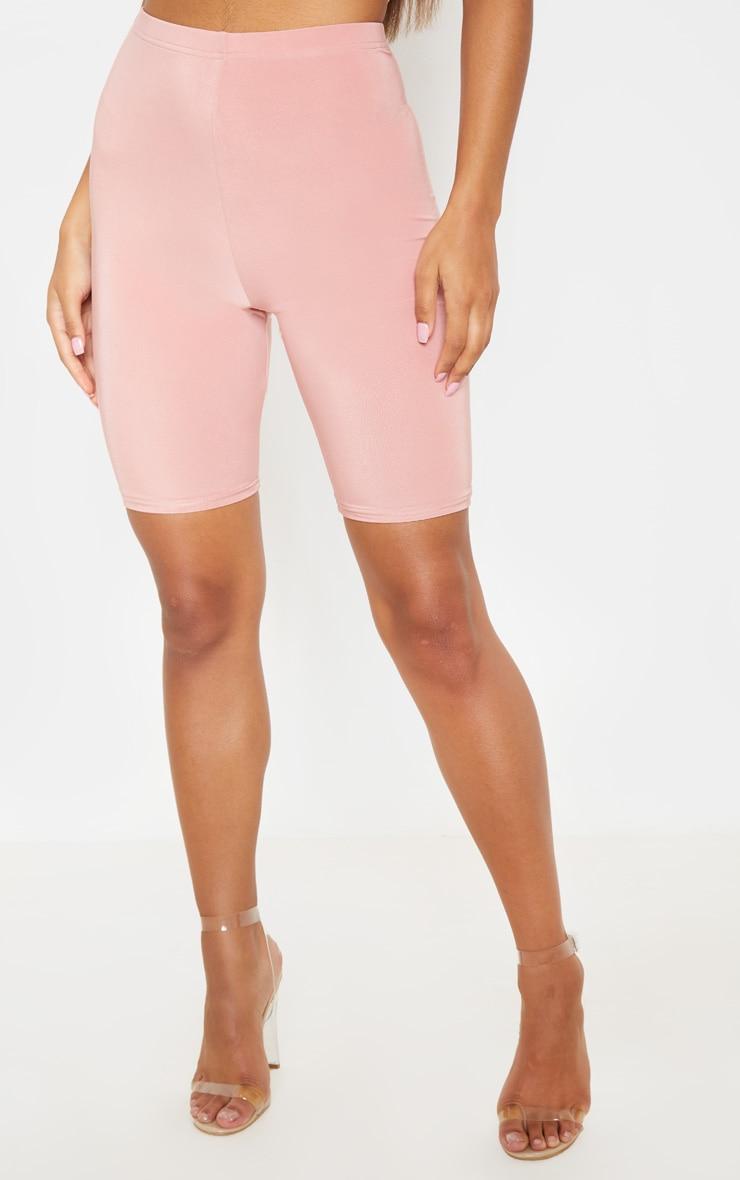 Dusty Rose Slinky High Waisted Bike Shorts 2