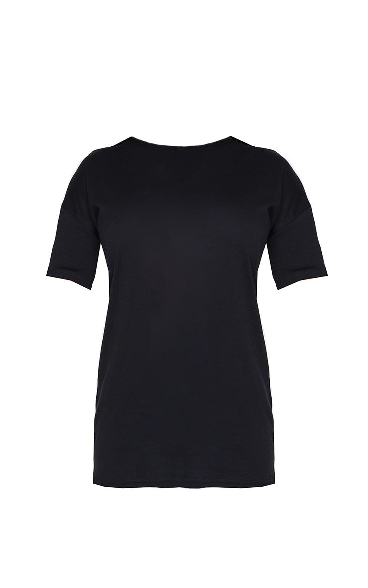 Petite Black Oversized T Shirt Dress 5