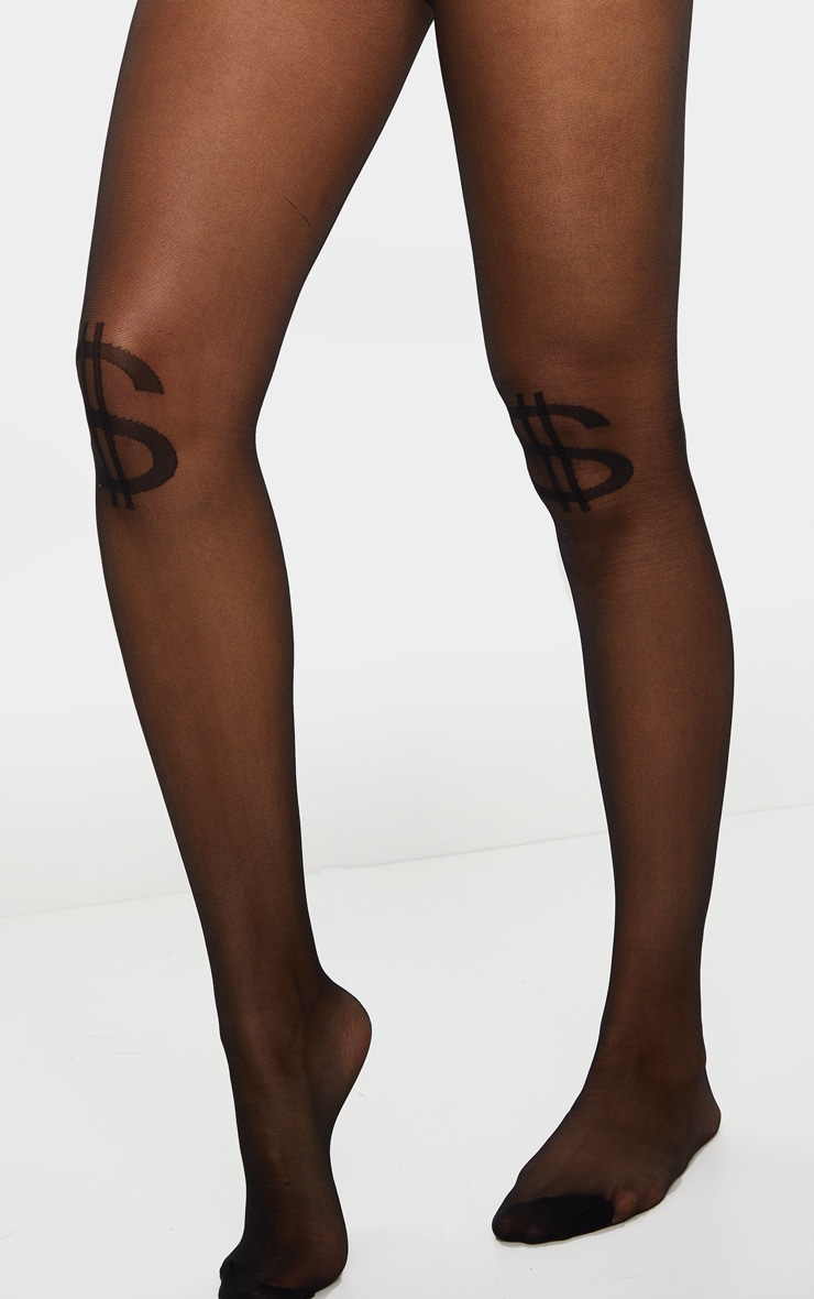 Black Dollar Sign Tights 3