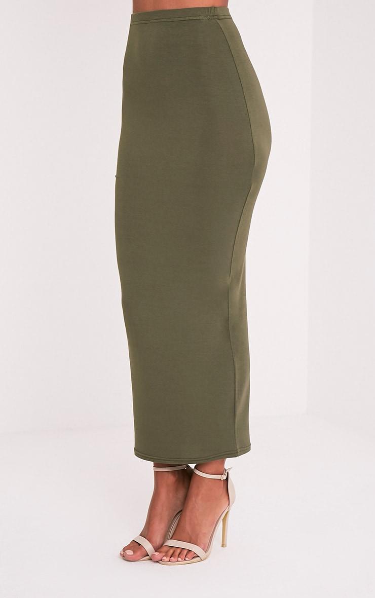 Basic Khaki Midaxi Skirt 4