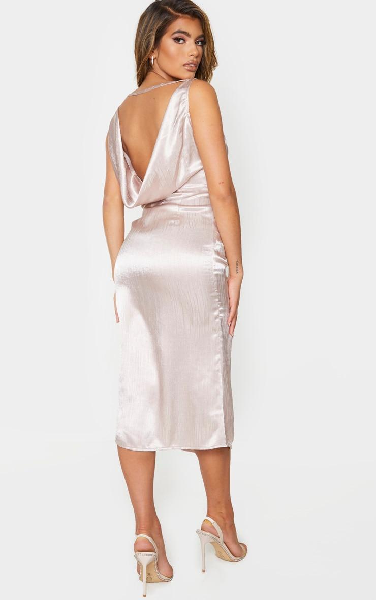 Nude Cowl Back Midi Slip Dress 1