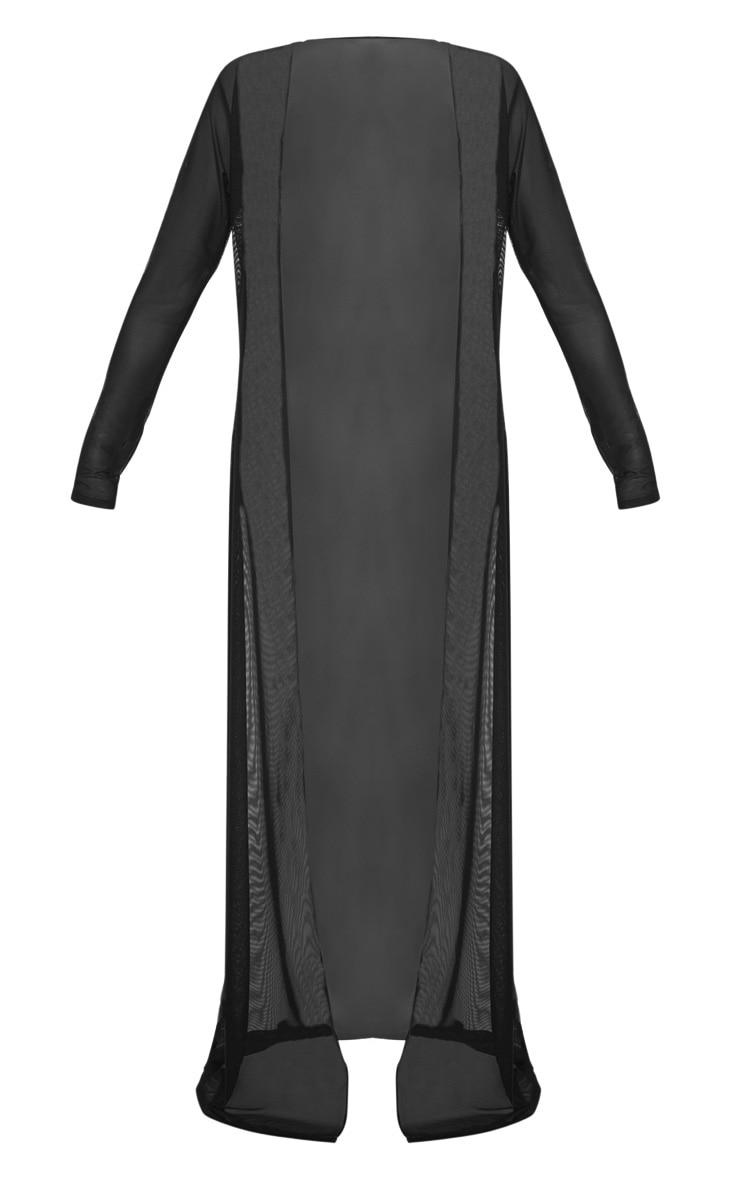 Black Mesh Kimono 4