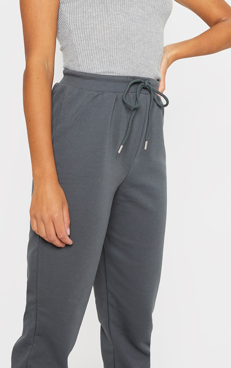 Charcoal Jersey Lounge Skinny Track Pants  4