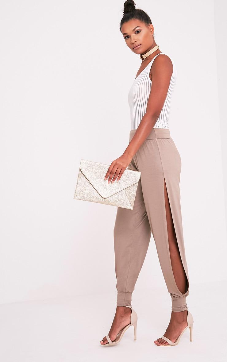 Paige Rose Gold Glitter Clutch Bag 2
