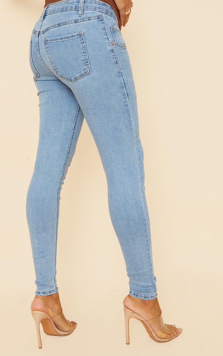 Maternity Blue Wash Skinny Jeans 3