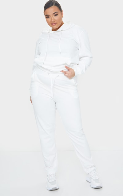 Plus Cream Basic Joggers by Pretty Little Thing, available on prettylittlething.com for $16 Hailey Baldwin Pants SIMILAR PRODUCT