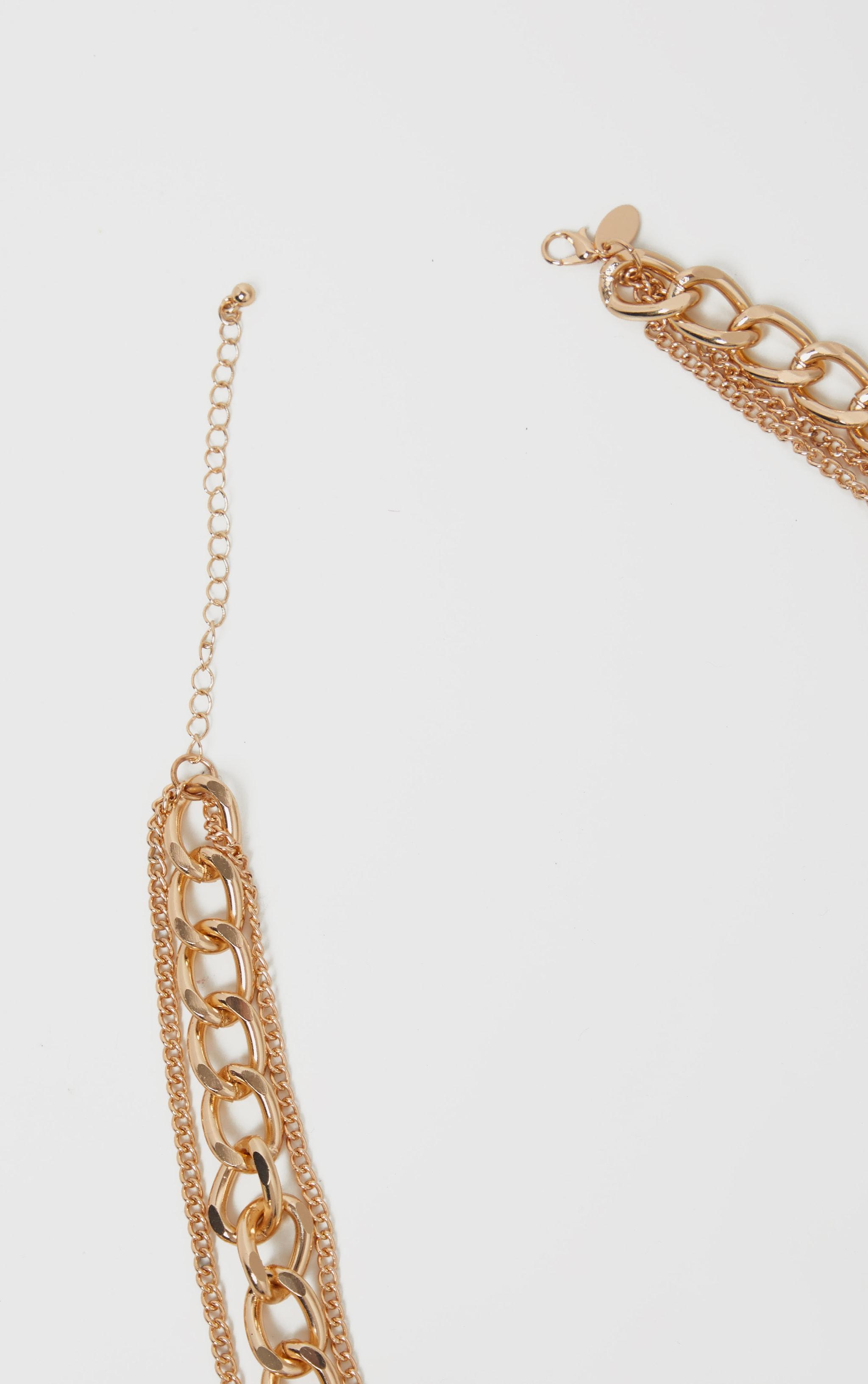 Gold Multi Chain Necklace 4