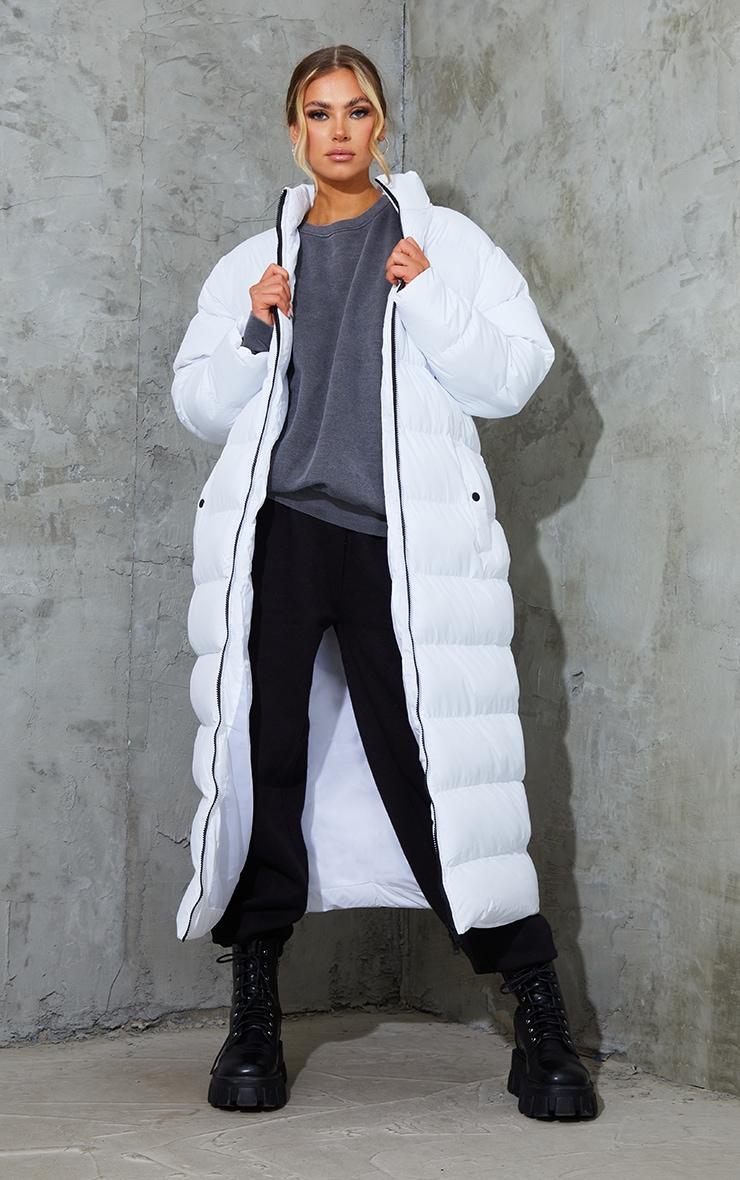White Maxi Bubble Puffer Jacket 1