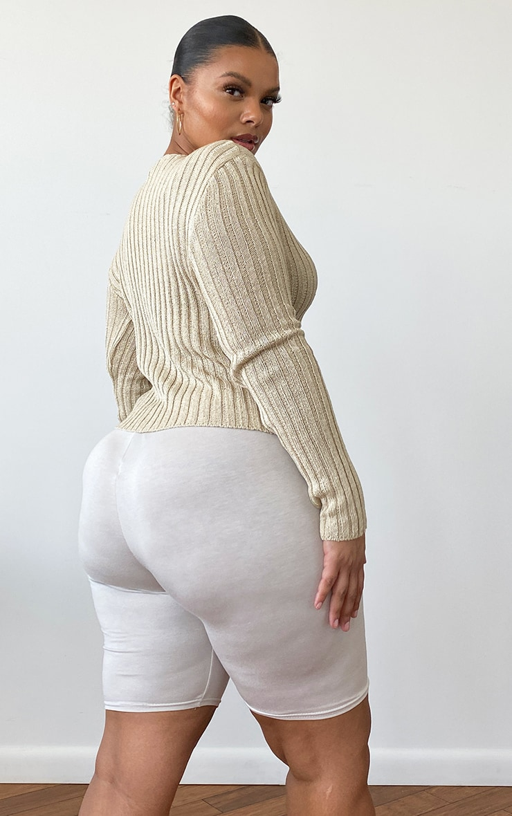 PLT Plus - Gilet skinny beige 2