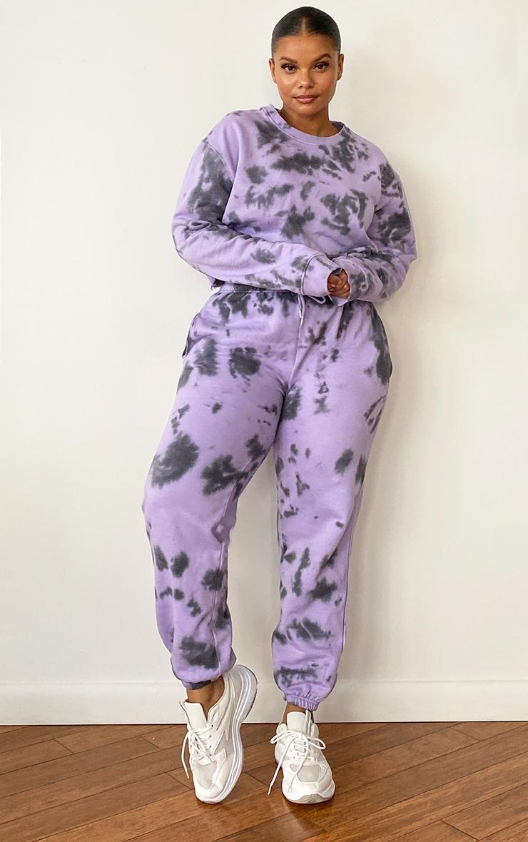 Plus Lilac Tie Dye Joggers 1