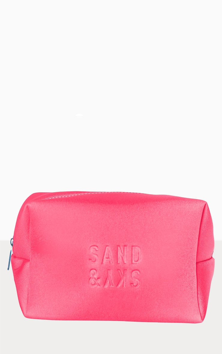 Sand & Sky Neoprene Holiday Makeup Pouch Australian Pink Clay Pink 2