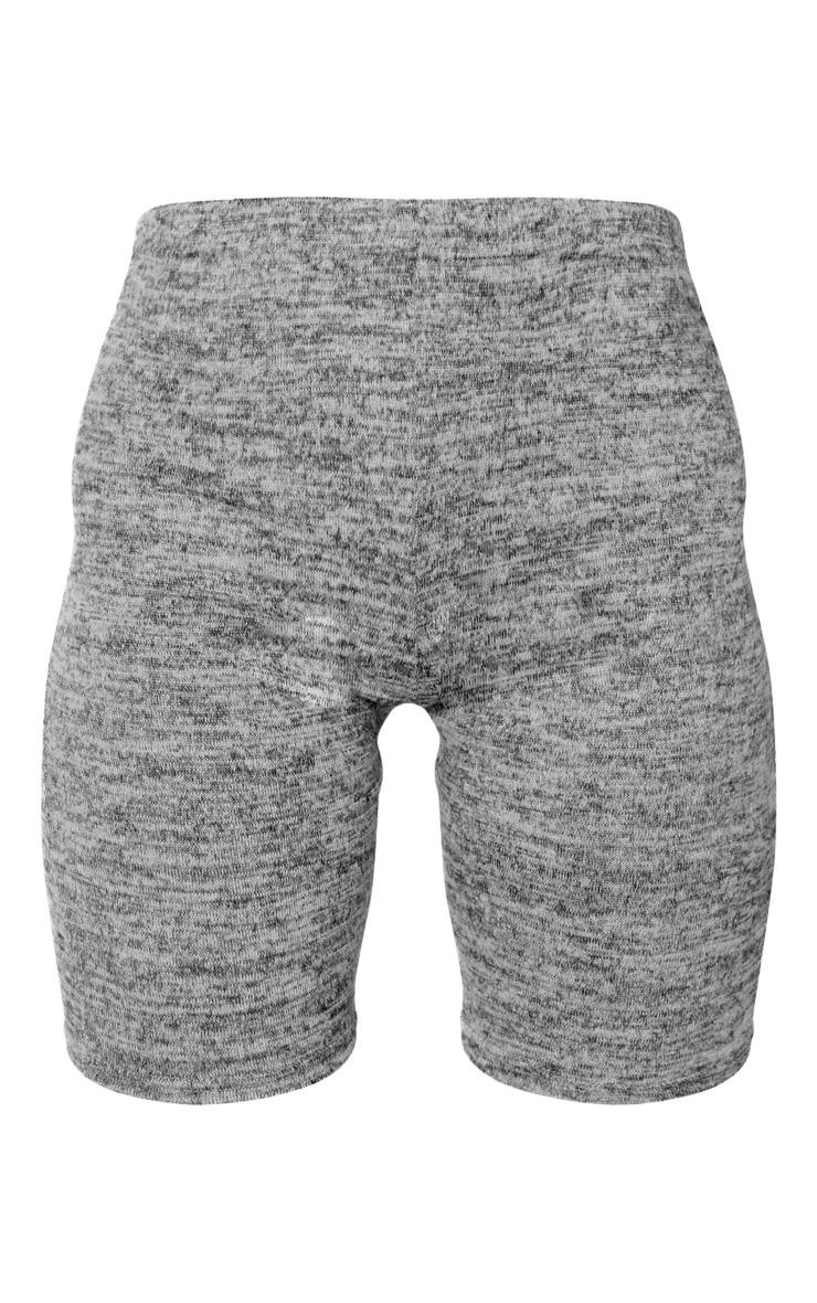 Grey Marl Brushed Textured Cycle Short 3