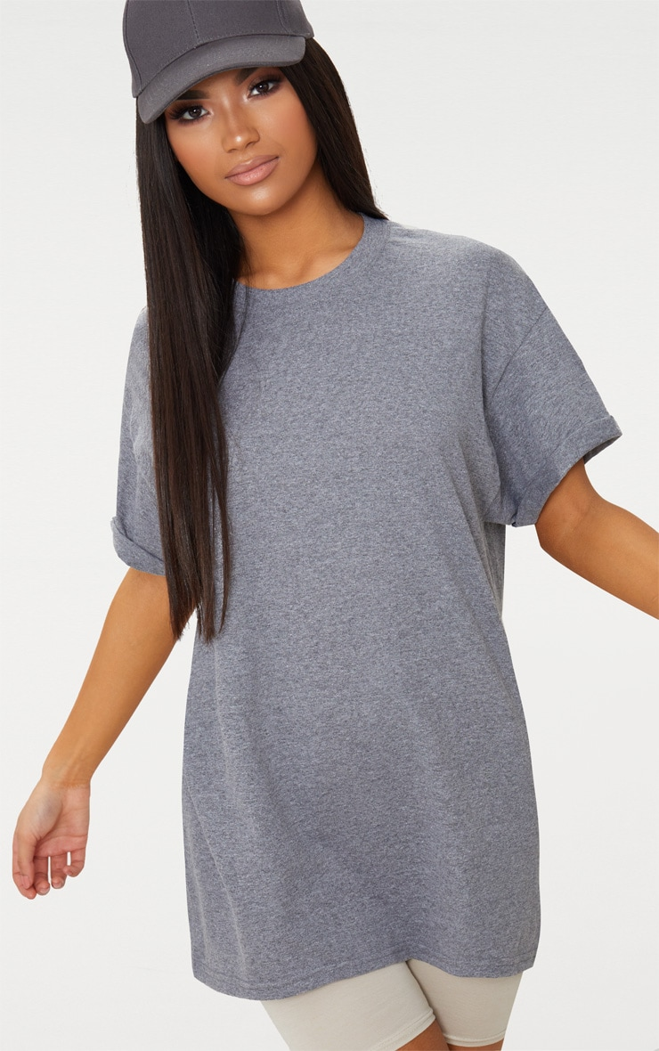 Charcoal Oversized Boyfriend T Shirt  1