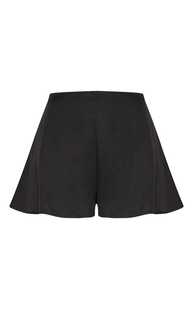 Black Floaty Shorts 3