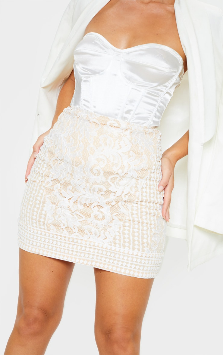 White Lace Mini Skirt 6