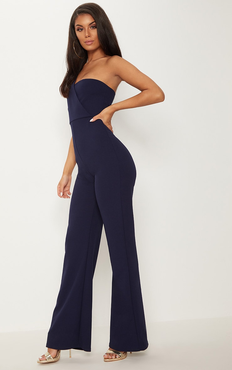Navy Drape One Shoulder Jumpsuit 4