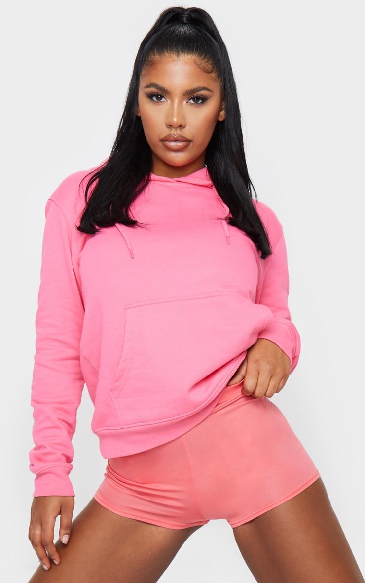 Pink Jersey High Waisted Hot Pants 4