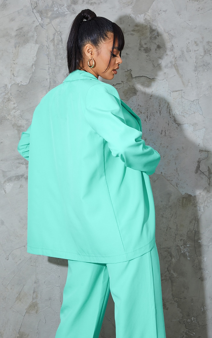 Teal Oversized Blazer 2