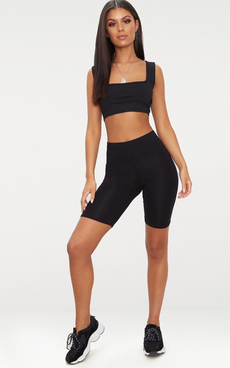 Basic Black Bike Shorts 1