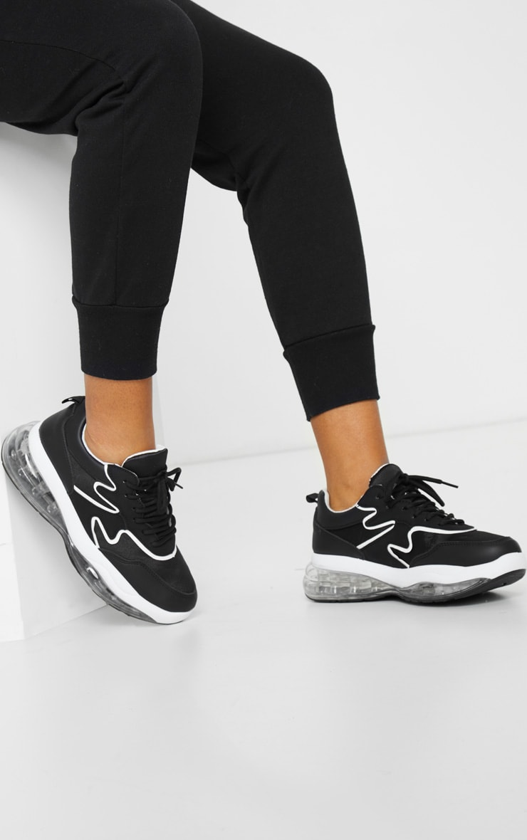 Black Clear Bubble Sole Trainers 2
